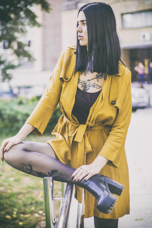 Photo of Woman Wearing Yellow Robe