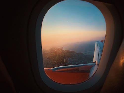 Photos gratuites de aube, aviation, avion, coucher de soleil