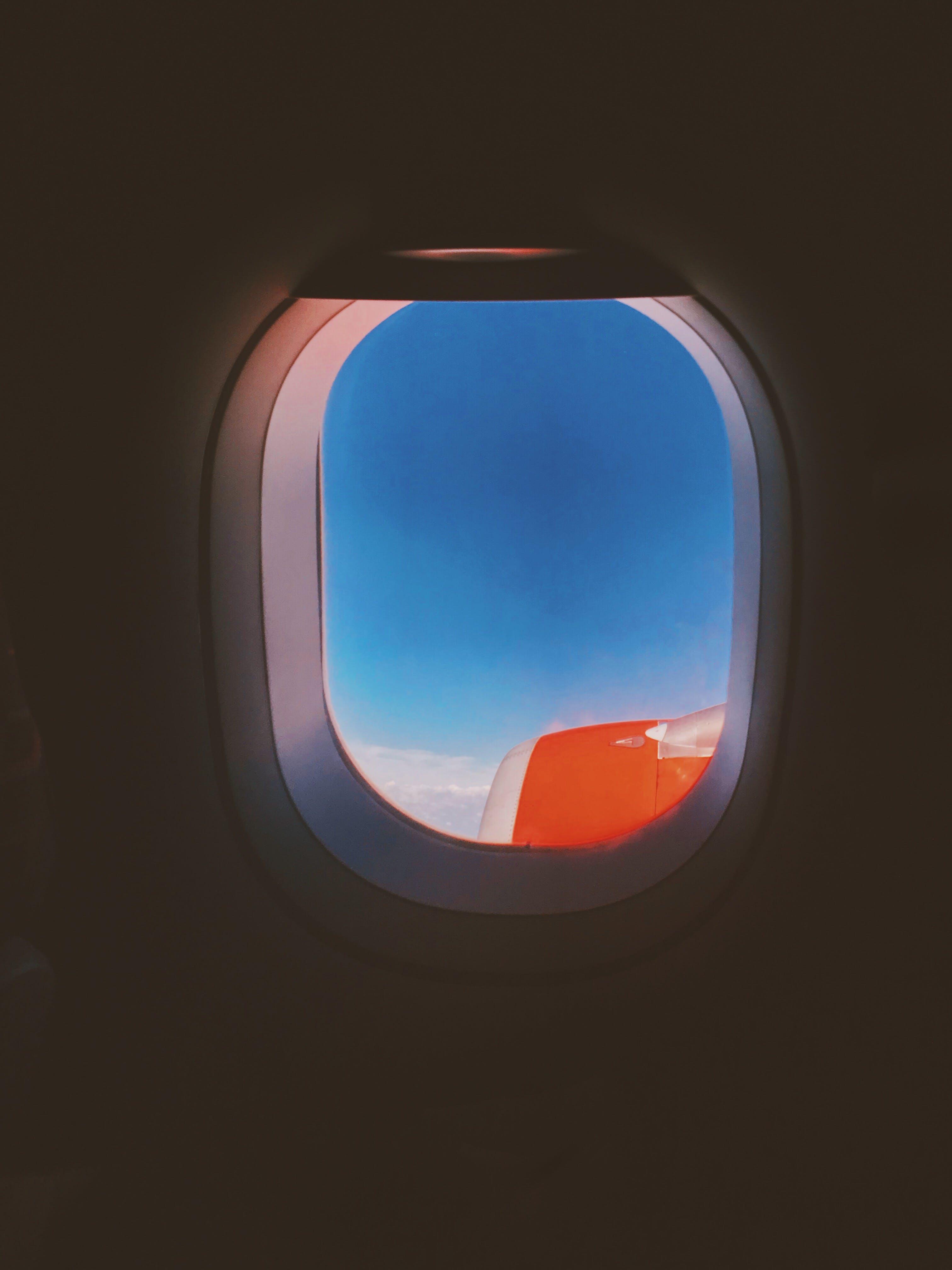 Orange Airplane Wing