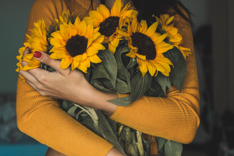 flóra, holka, kvést