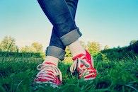 fashion, grass, jeans