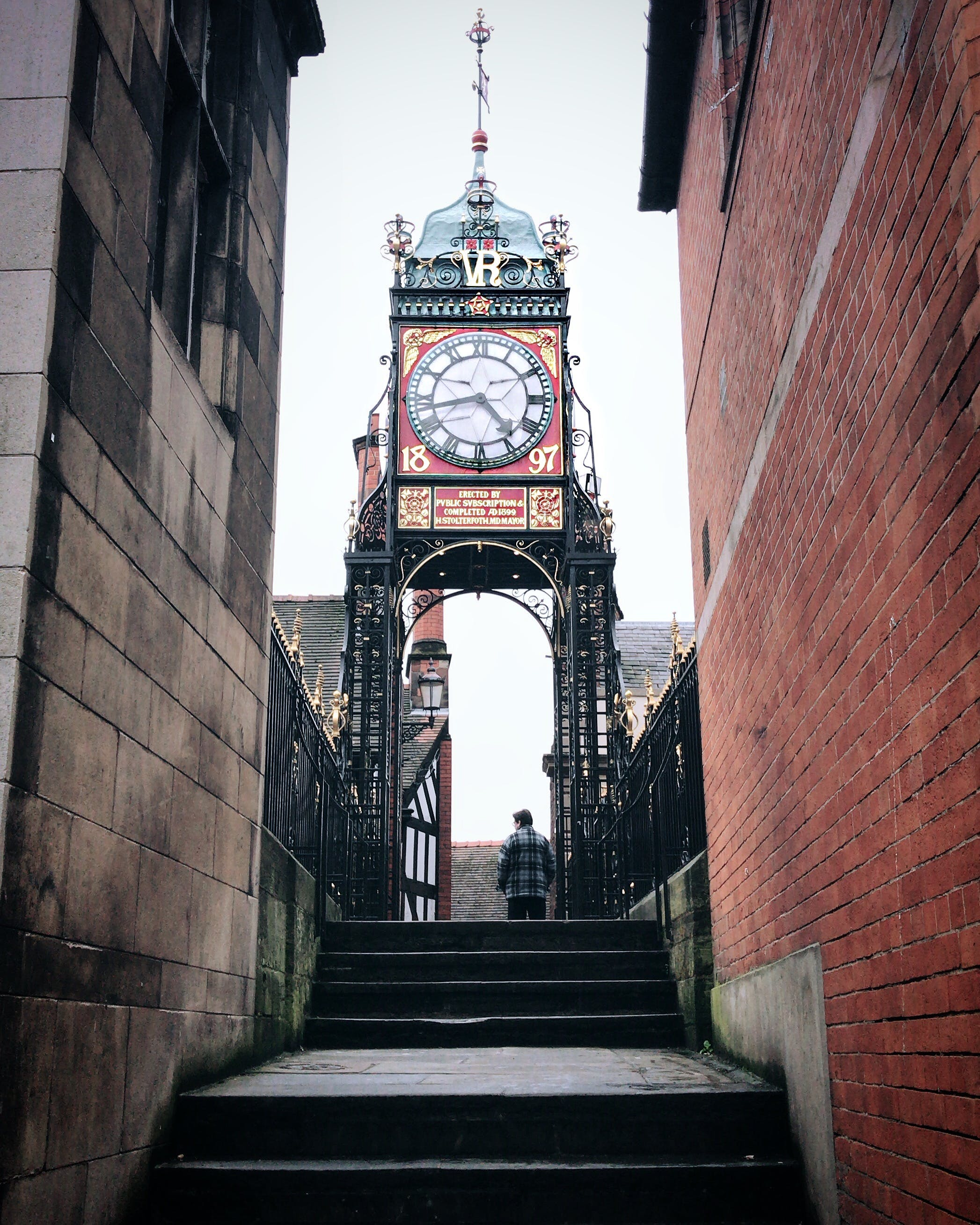 Free stock photo of architectural design, architectural detail, chester, clock tower