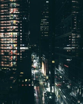 Free stock photo of city, road, vehicles, night