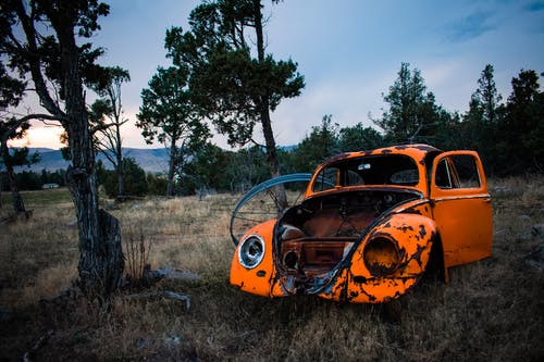 Rusty Orange Volkswagen Beetle