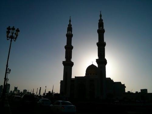 Free stock photo of evening sun, mosque