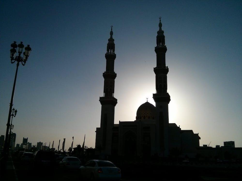 Fotobanka sbezplatnými fotkami na tému mešita, večerné slnko