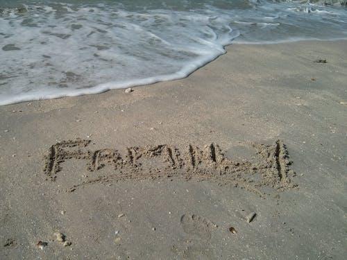 Free stock photo of family, seashore