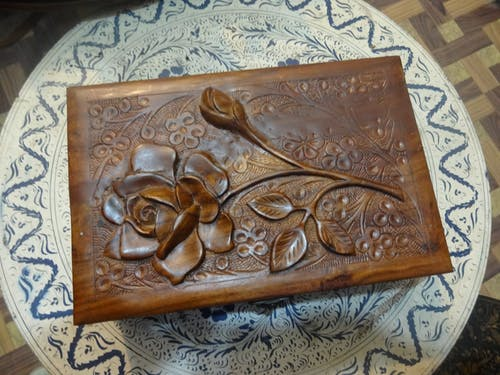 Free stock photo of brown, carved wood, jewellery, rose