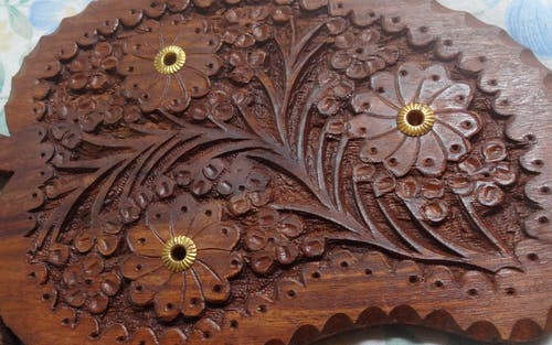 Free stock photo of brown, carved wood, flowers, wooden