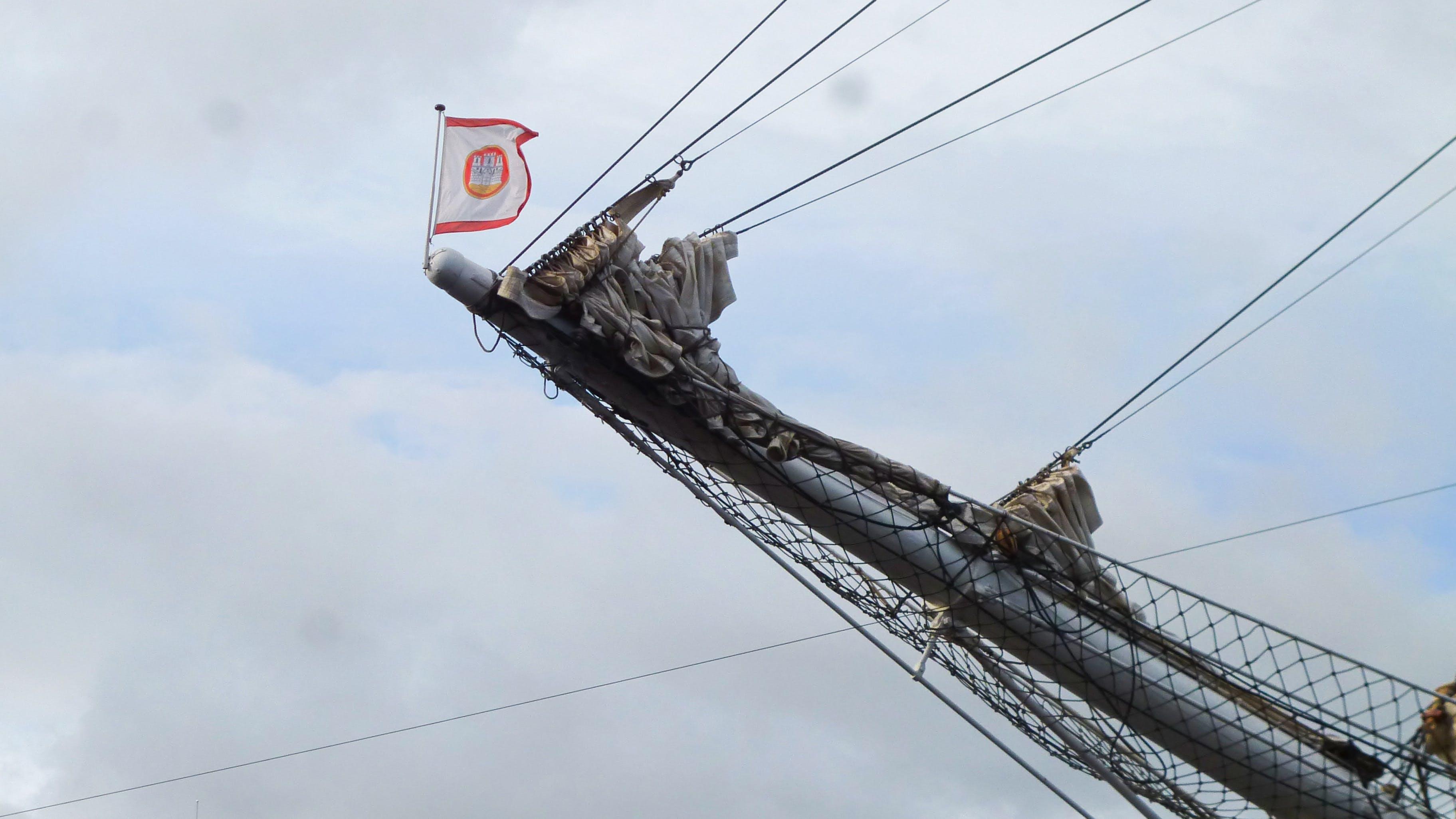 Free stock photo of flag, mast, sailing ship