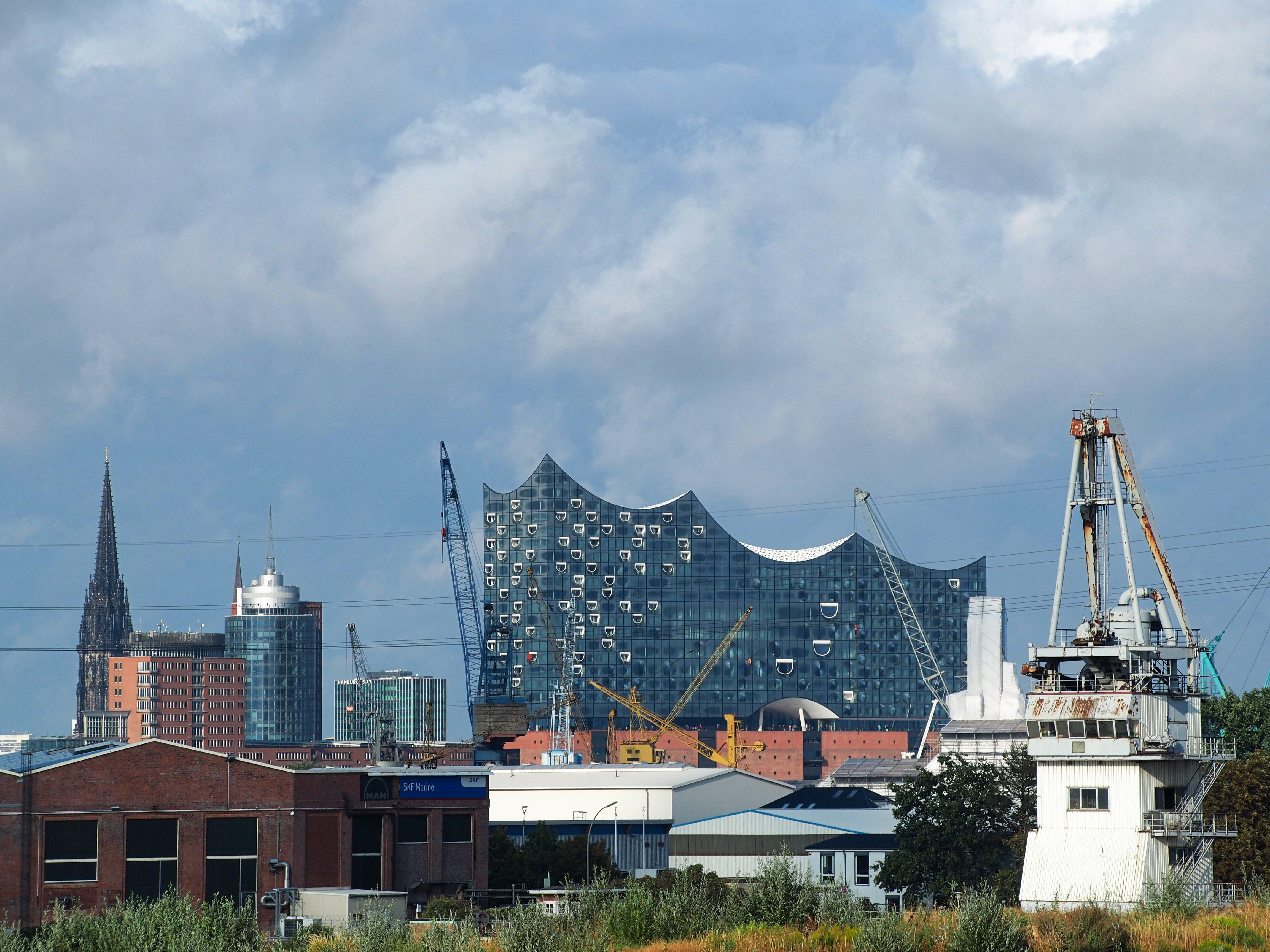 Free stock photo of crane, hamburg, port