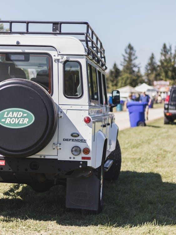 White Land Rover Defender