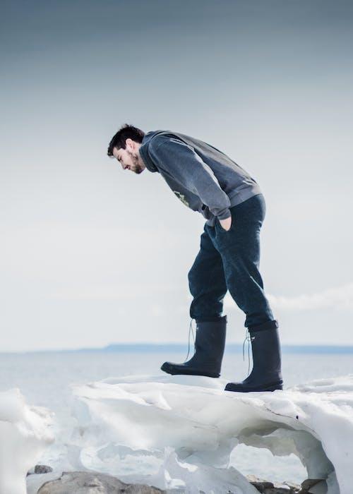 Foto profissional grátis de água, baía, gelo, inverno
