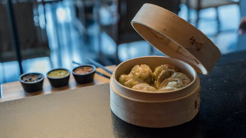 Dumplings in Bowl
