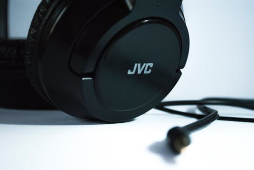 Black Jvc Corded Headphones