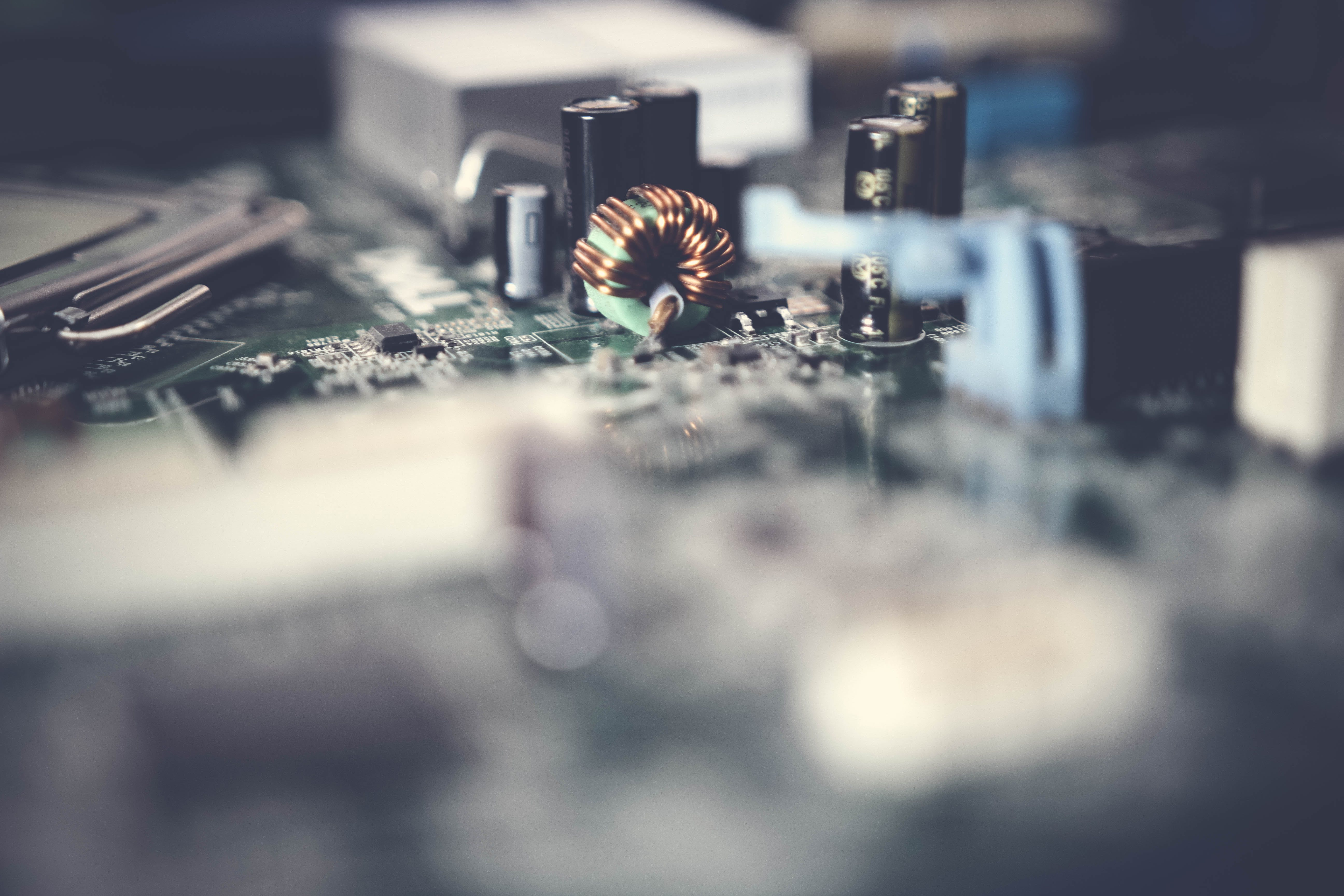 Close-up Photo of Motherboard