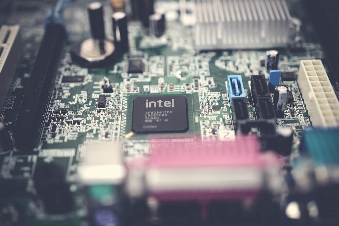 Selective Focus Photography of Motherboard