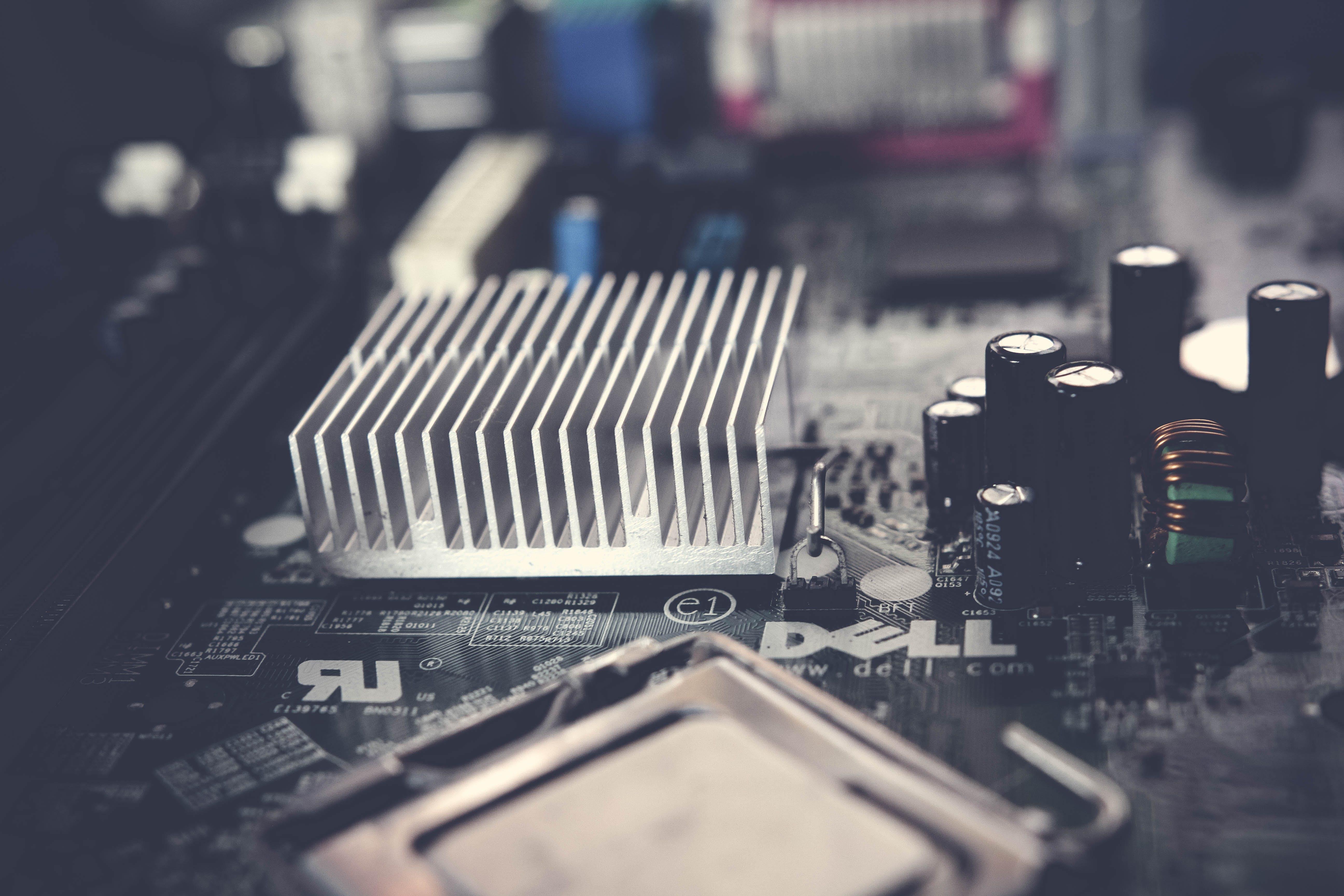 Selective Focus Photography of Heatsink