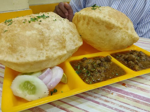 Free stock photo of Chhola bhatura