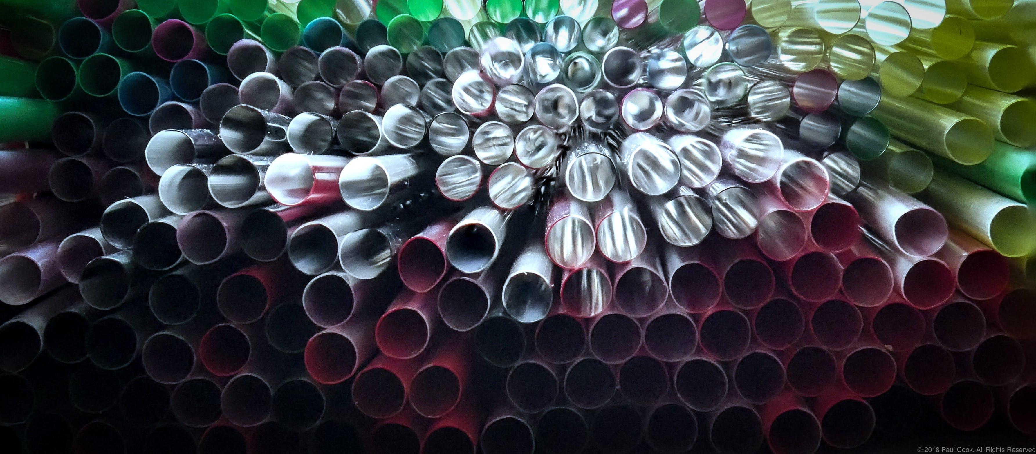 Free stock photo of art, straws