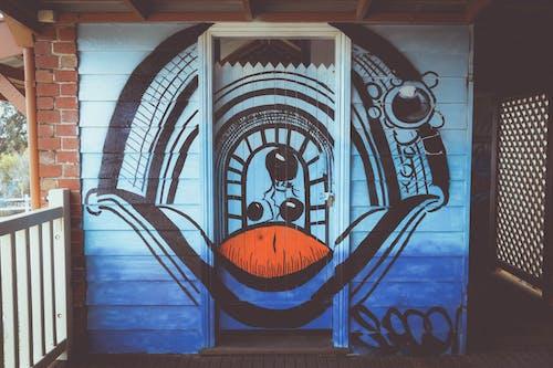 Kostenloses Stock Foto zu abstraktes gemälde, backsteinmauer, graffiti, irre