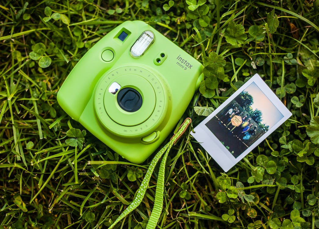 Close-Up Photography of Camera on Grass