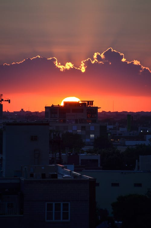シティ, 夜明け, 家, 建物の無料の写真素材