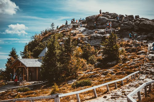 Ludzie Na Szczycie Wzgórza