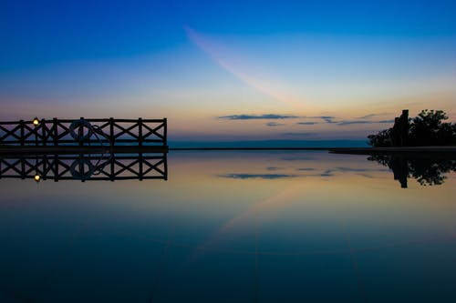 Free stock photo of #pool, #reflections, #sunset