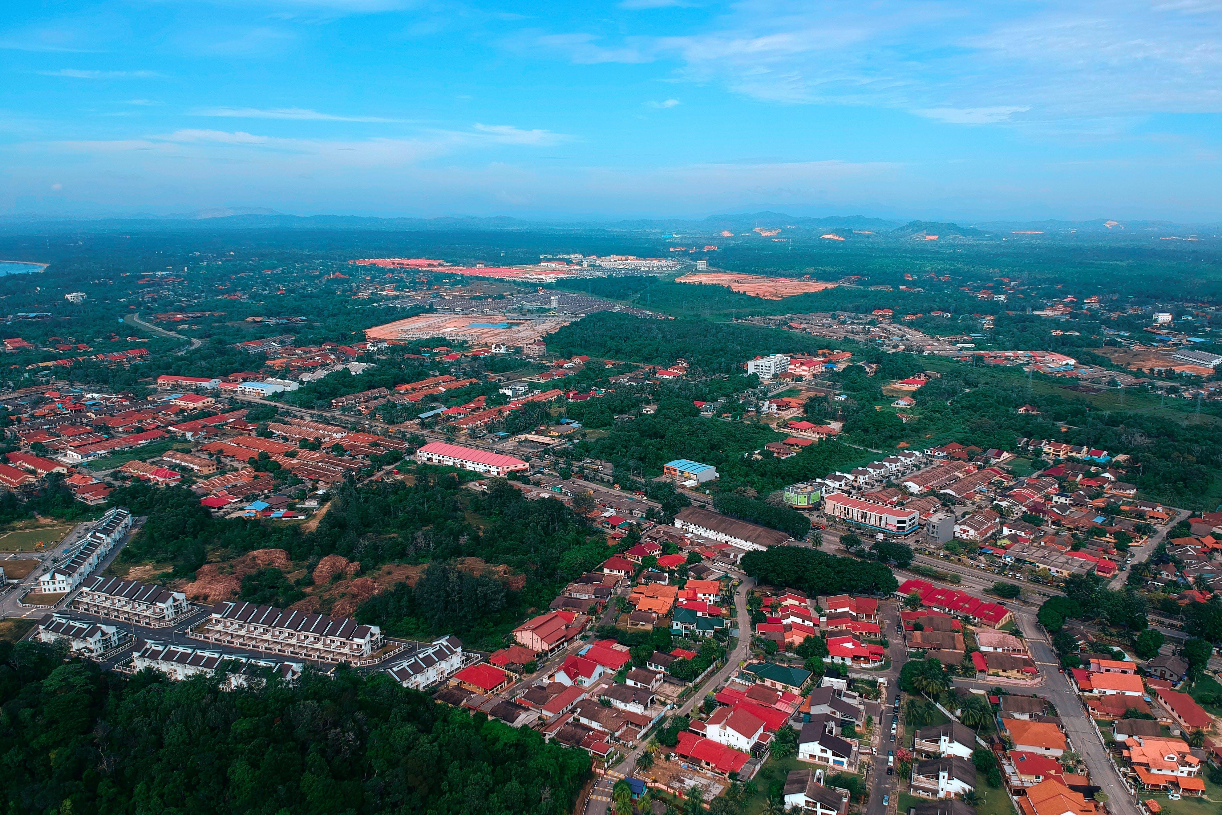 Bird's Eye View of Town
