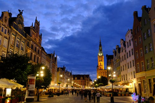 Free stock photo of city, danzig, gdansk, night