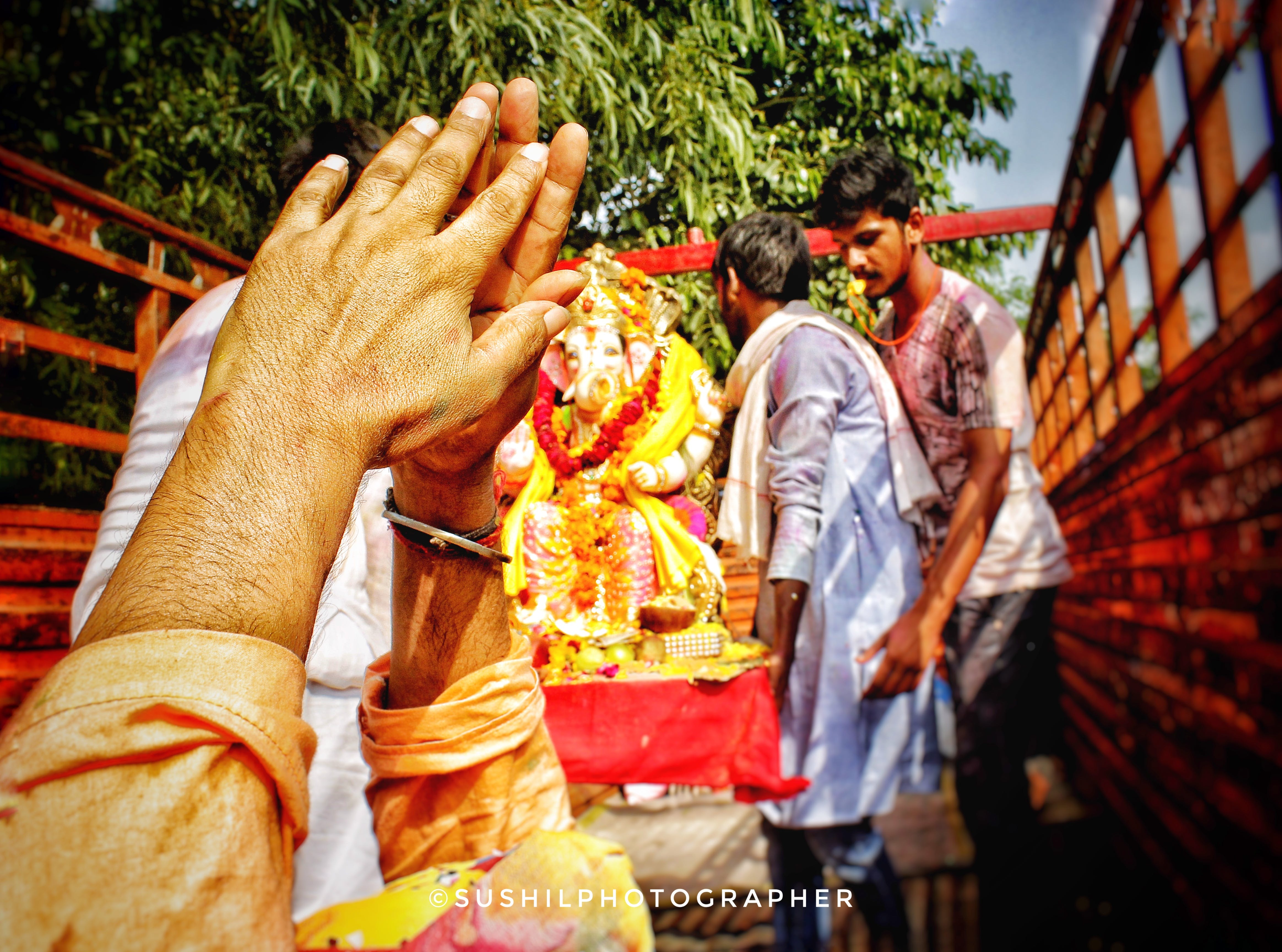 Free stock photo of The last final good by of ganpati