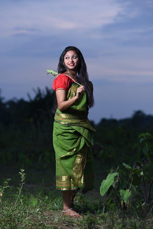 drăguț, fată, fata indiană