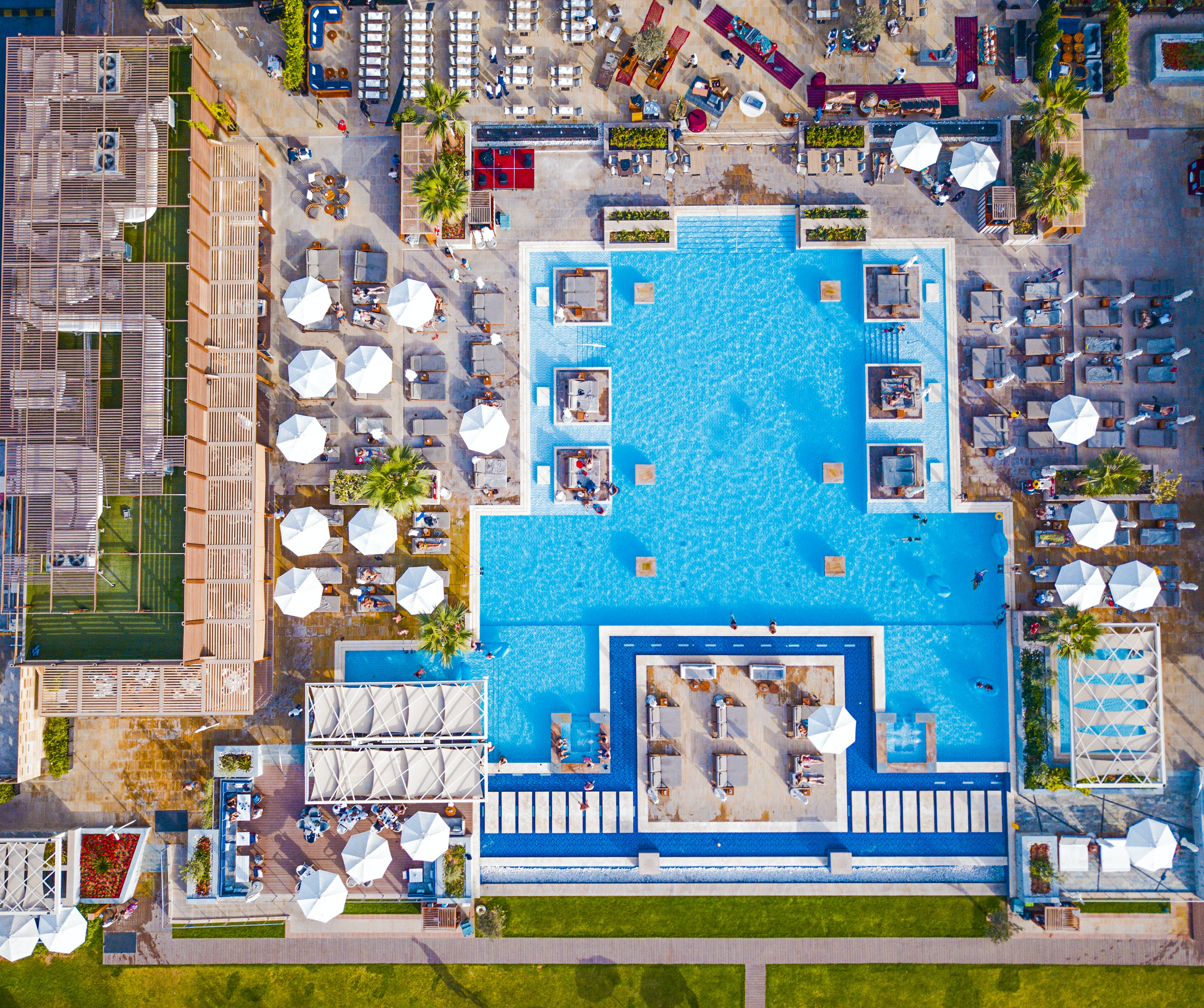 Aerial Photography of Swimming Pool