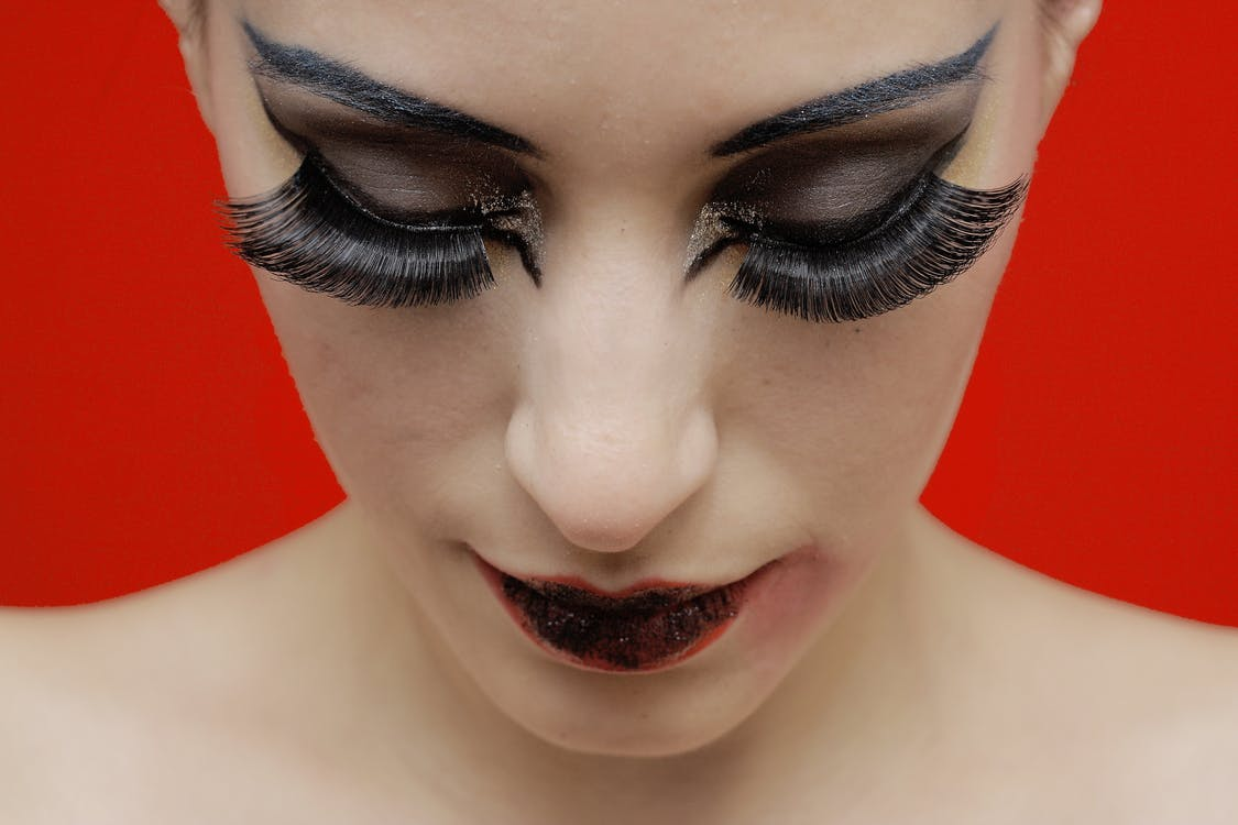 Close-Up Photo of Woman With Make-Up