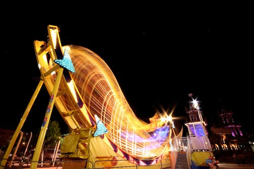 Free stock photo of Agricultural Fair, amusement park ride, august, blurred motion