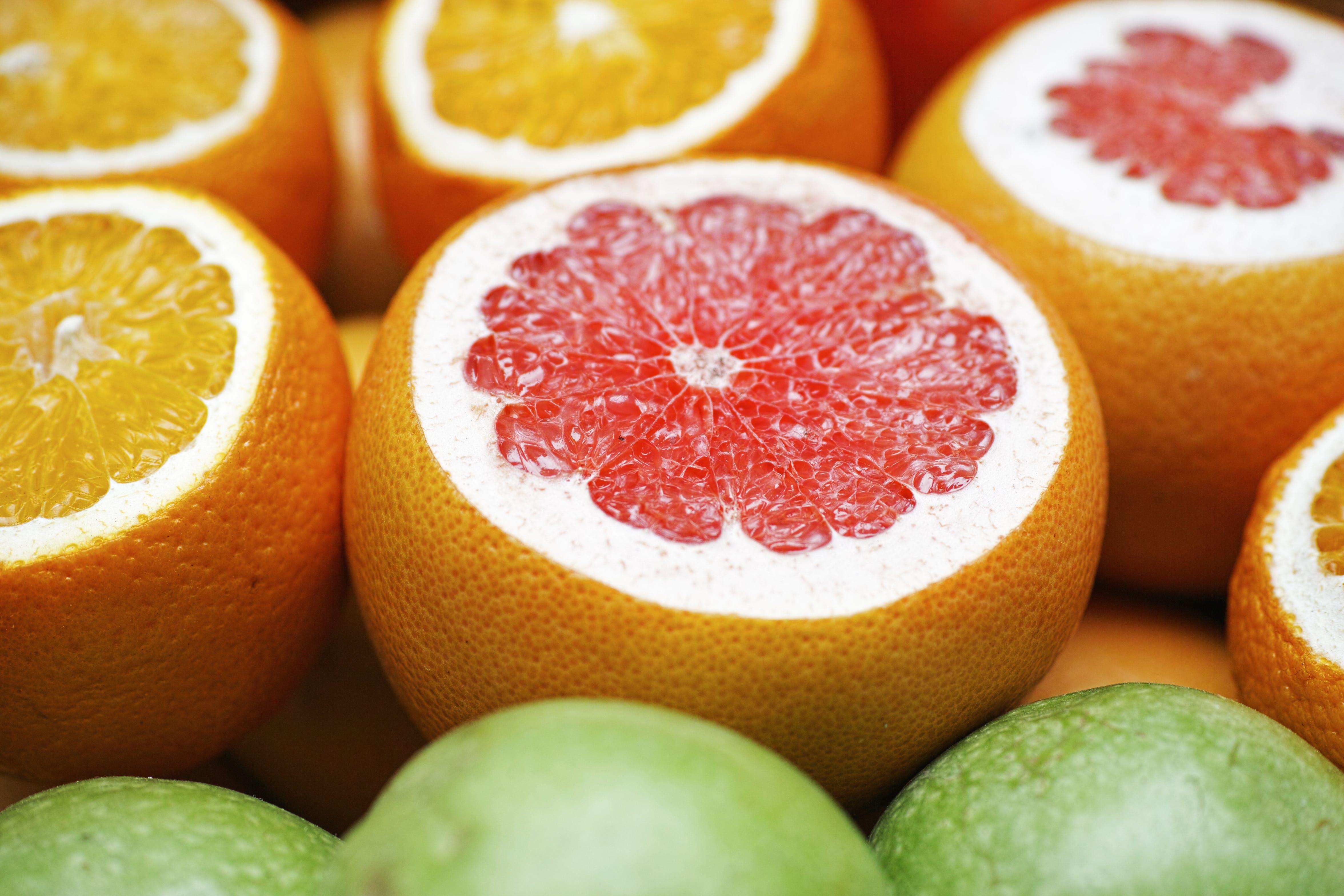 Close-up Photo of Grapefruits
