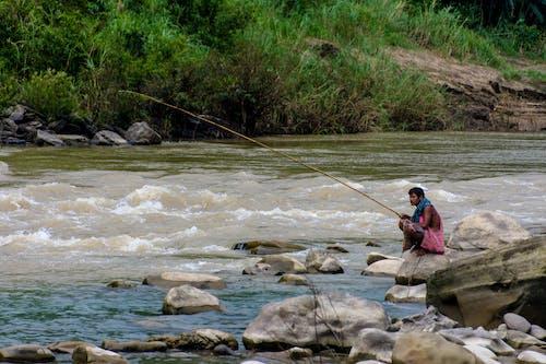 水, 浪潮, 生活, 釣魚 的 免費圖庫相片