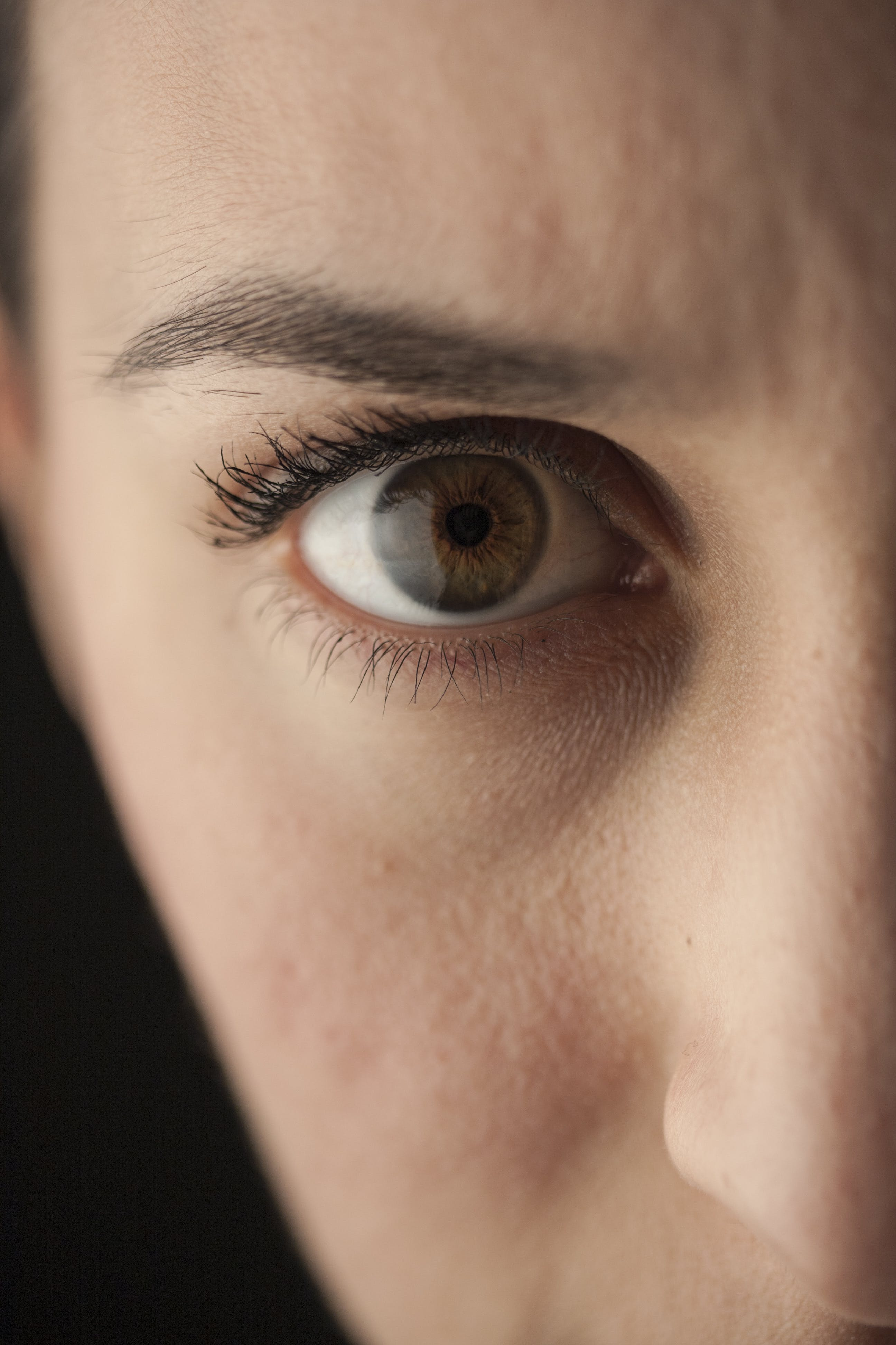 Close-up Photo of Right Person Eye