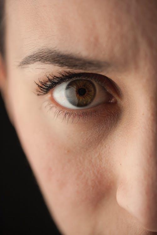 dona, femella, globus ocular