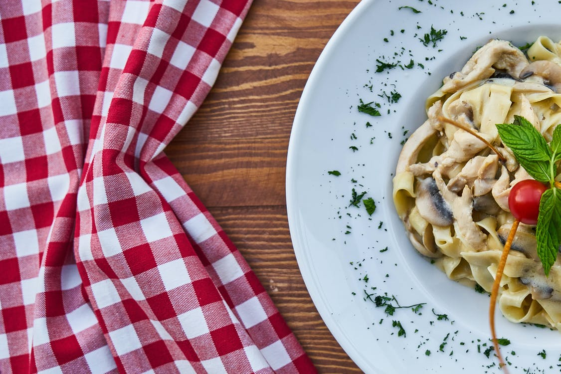 Plate of Pasta With Cherry Tomato