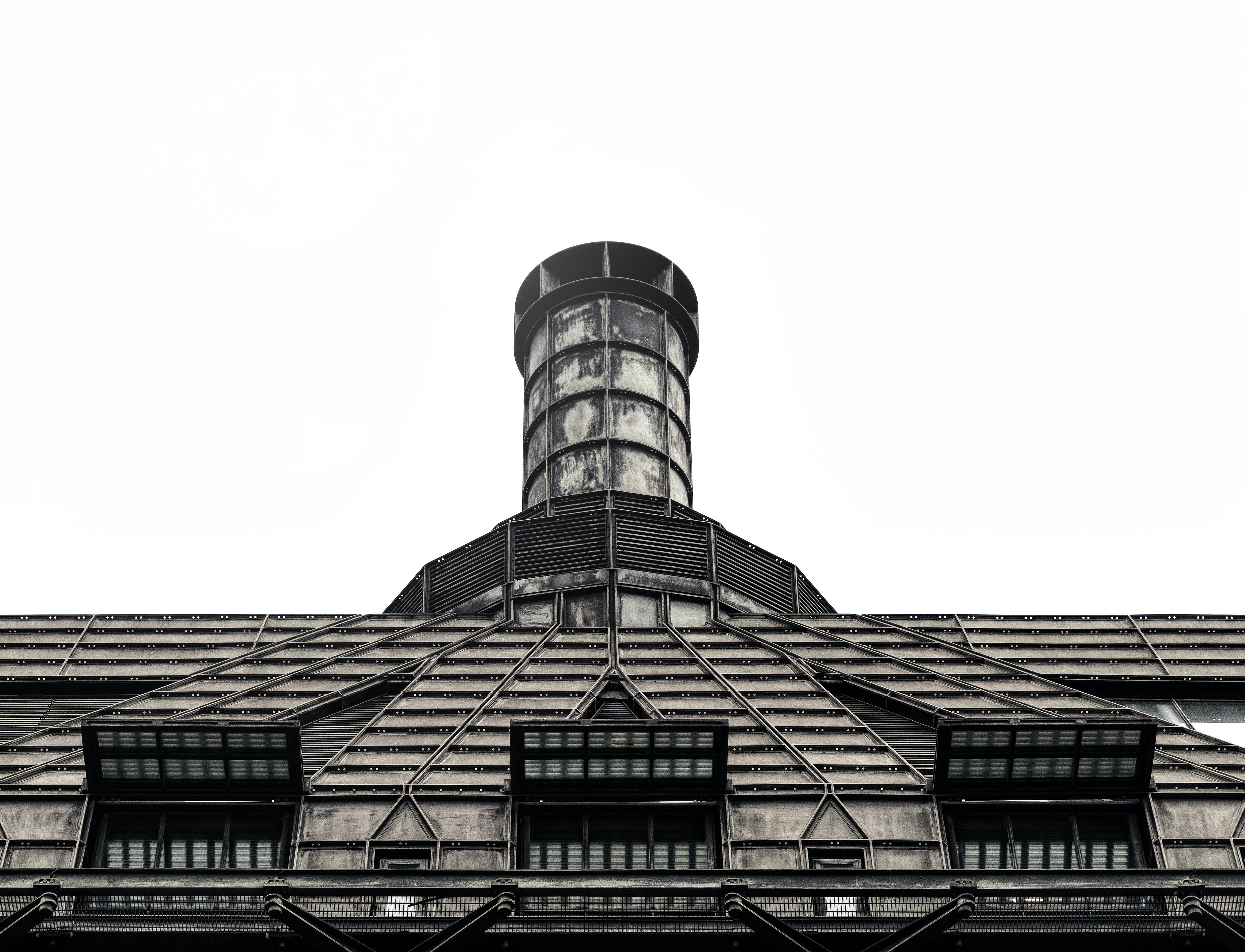 Free stock photo of architecture, building, chimney, desaturated