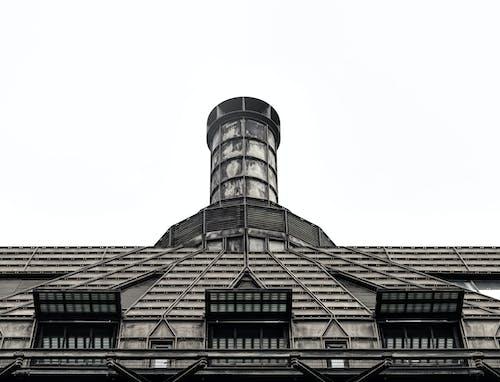 Základová fotografie zdarma na téma architektura, budova, desaturated, komín