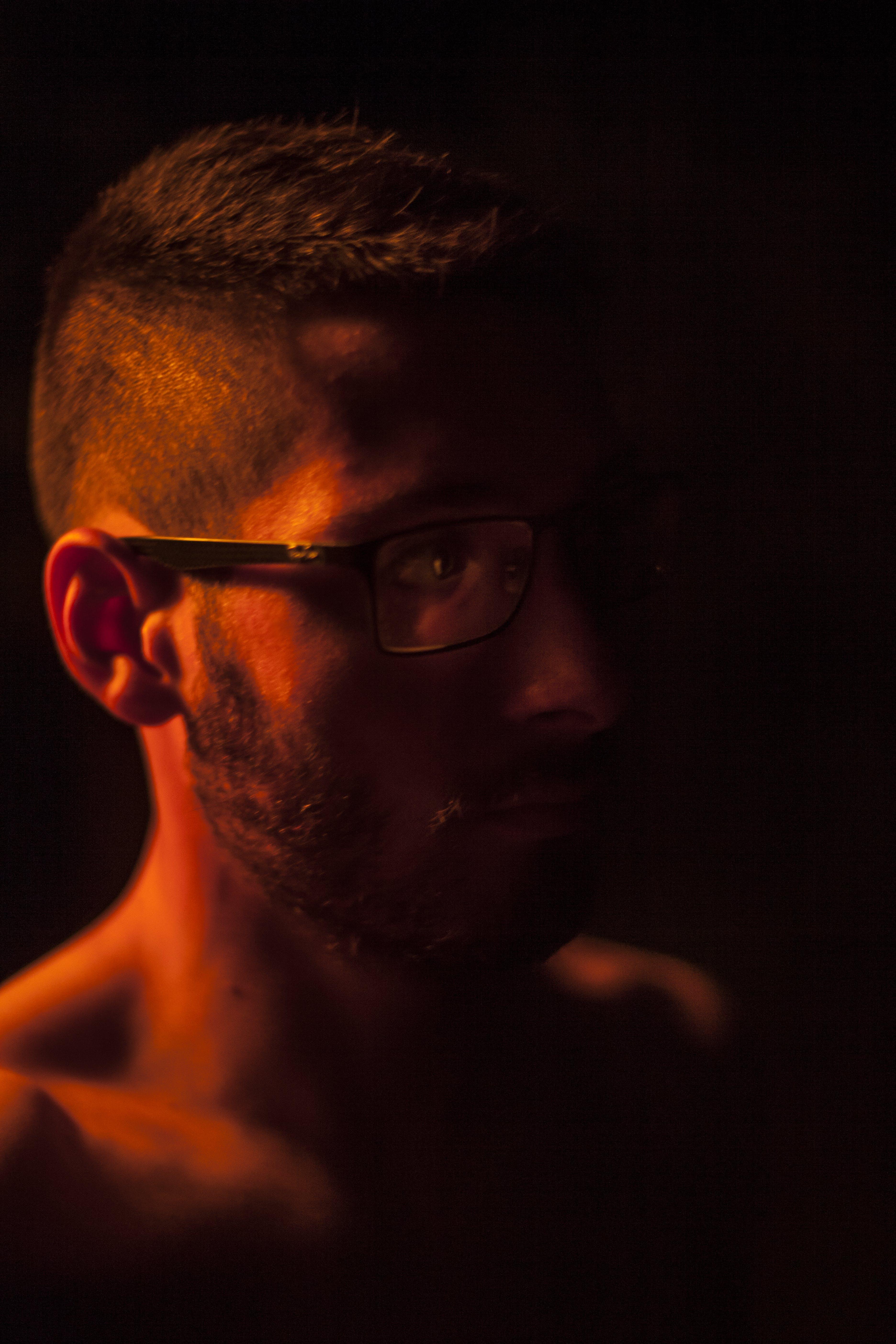 Kostenloses Stock Foto zu bart, brillen, dunkel, erwachsener