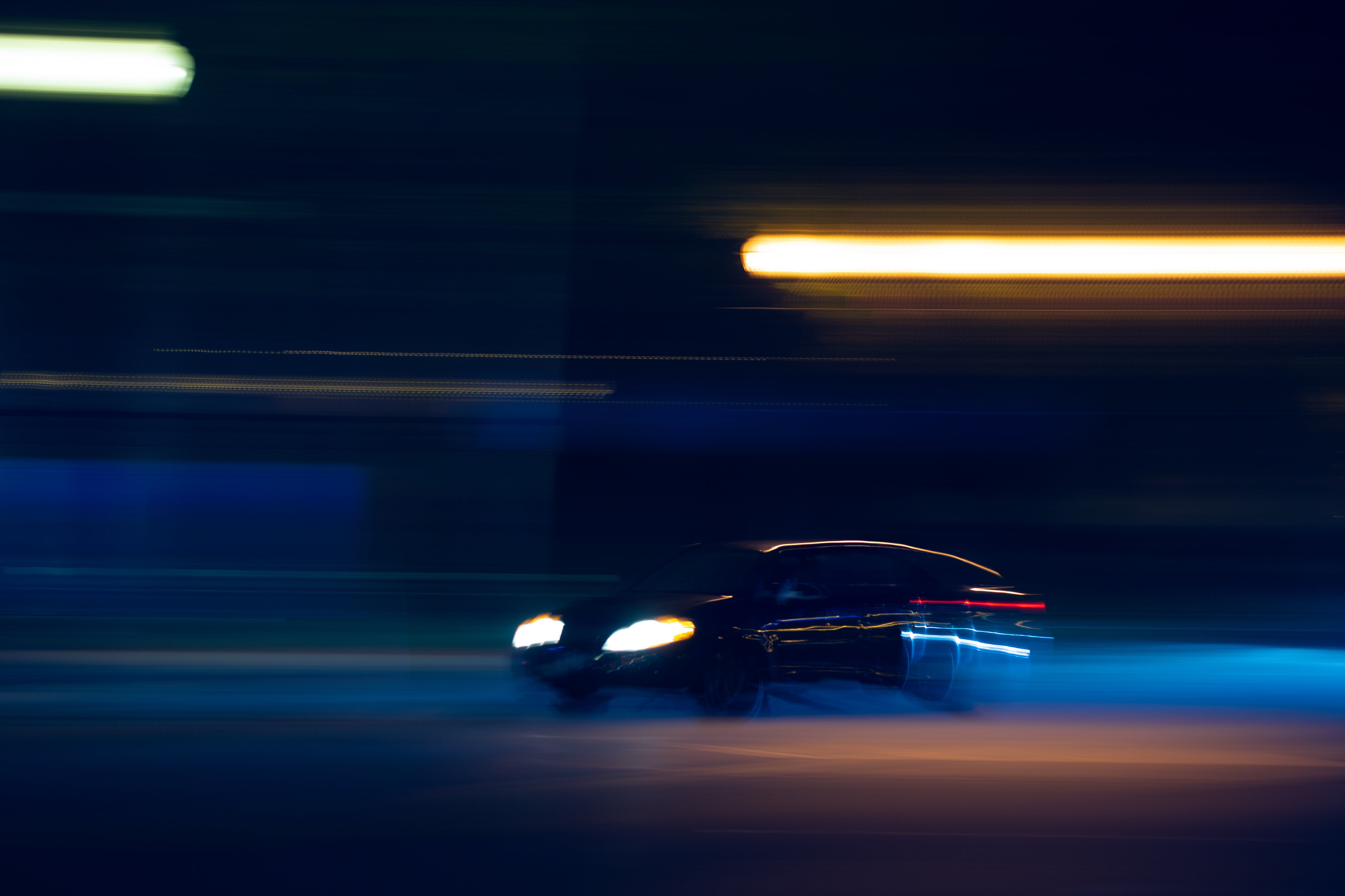 Free stock photo of car, drive, fast, light