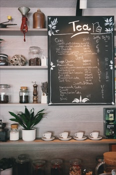 Free stock photo of wood, menu, café, plant