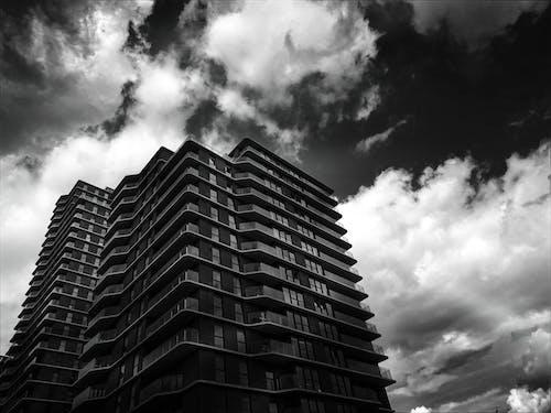 Fotobanka sbezplatnými fotkami na tému architektonický dizajn, architektúra, budova, čierna a biela