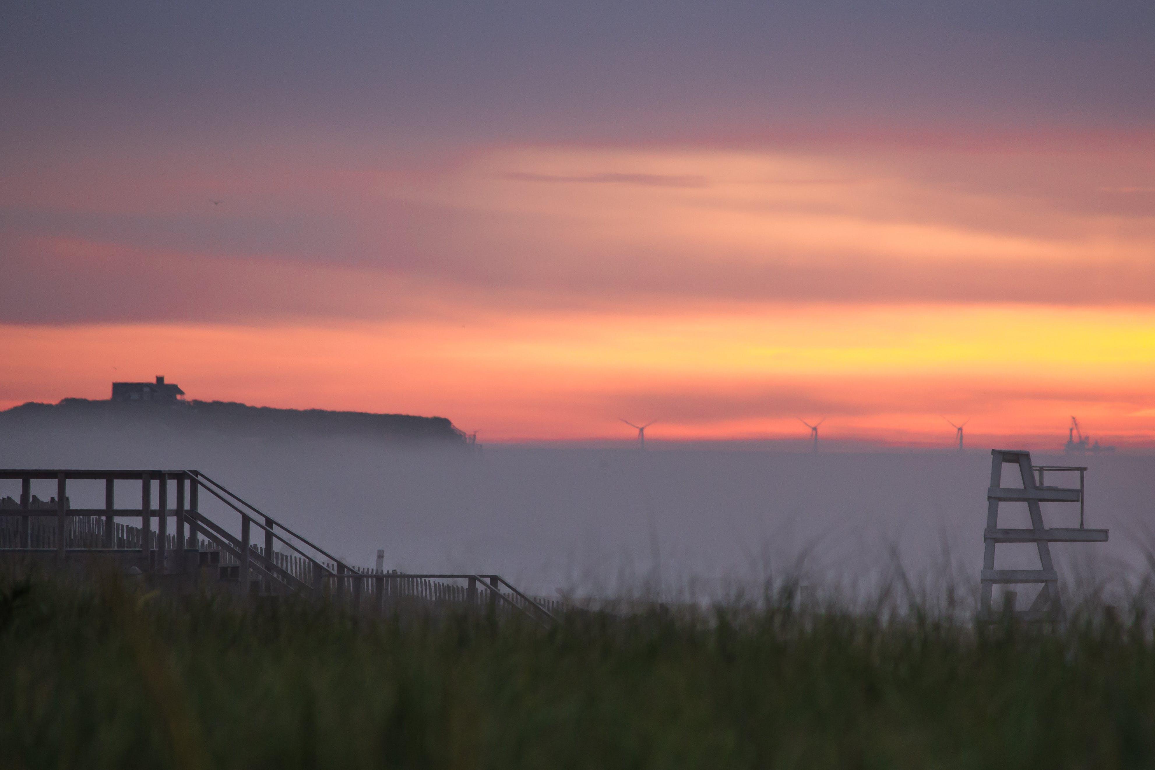 Free stock photo of beach, sunrise, mist