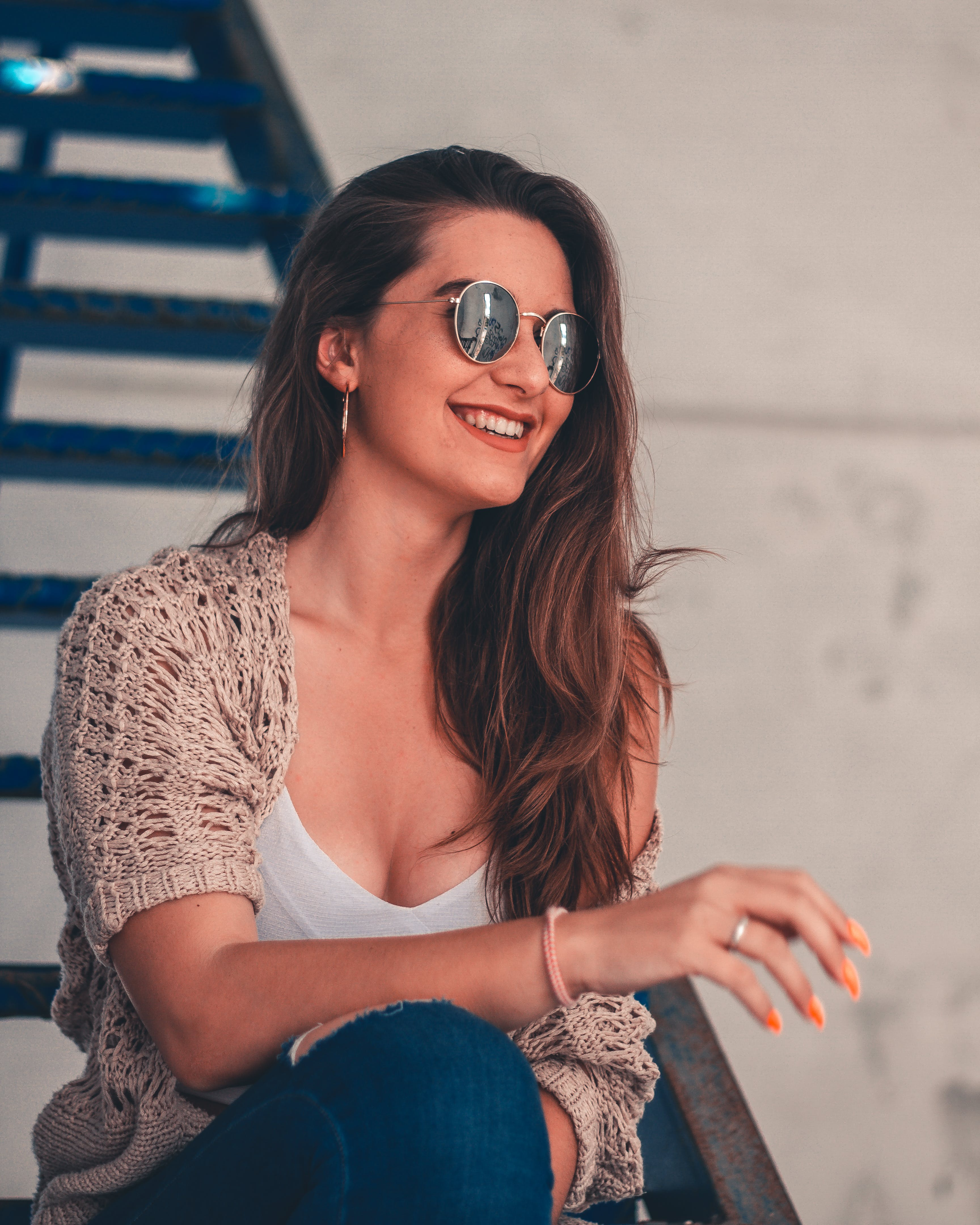 Free stock photo of stairs, fashion, person, sunglasses