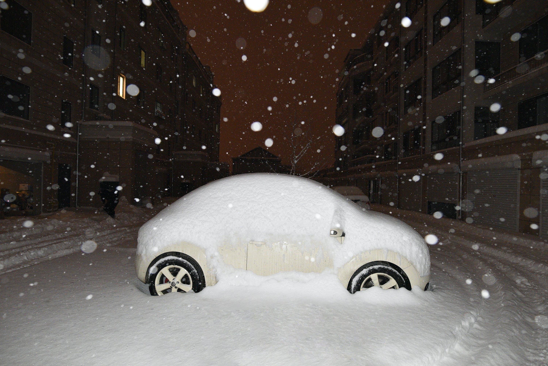 Kostenloses Stock Foto zu schnee, volkswagen beetle